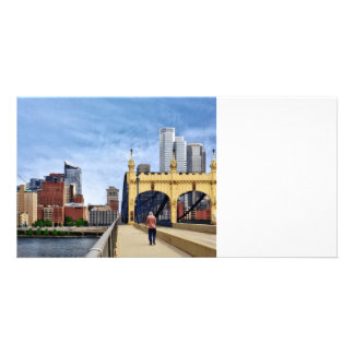 Pittsburgh - croisement du pont en rue de photocartes