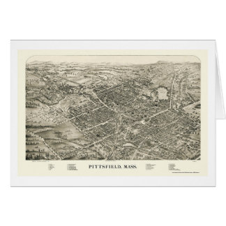 Pittsfield, carte panoramique de mA - 1899