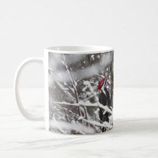 Pivert en hiver mug