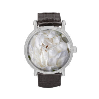 Pivoine blanche - photographie florale - montre de montres