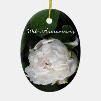 Pivoine blanche - photographie florale - décoration de noël