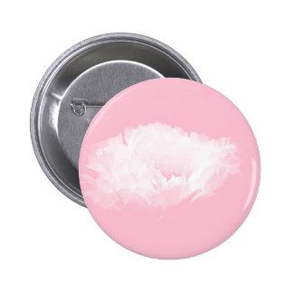 Pivoine blanche rose molle - florale badge avec épingle