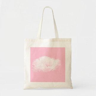 Pivoine blanche rose molle - florale sac fourre-tout