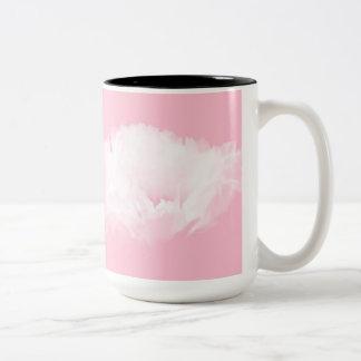 - Pivoine blanche - tasse florale rose-clair