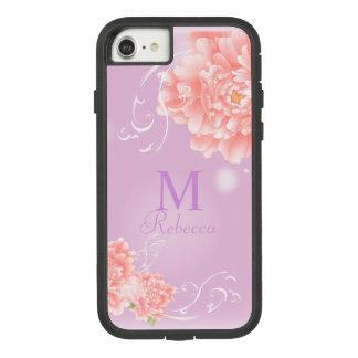 pivoine rose florale d'aquarelle chic girly de coque Case-Mate tough extreme iPhone 7