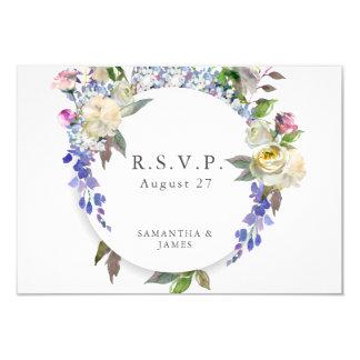 Pivoine rustique de pays épousant la carte de RSVP