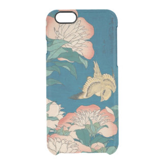Pivoines de Hokusai et GalleryHD vintage jaune Coque iPhone 6/6S