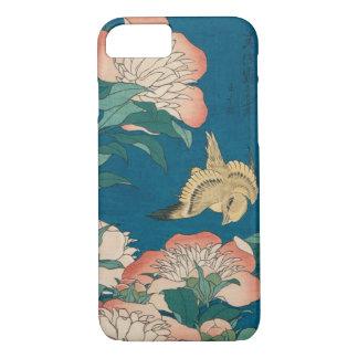 Pivoines de Hokusai et GalleryHD vintage jaune Coque iPhone 7