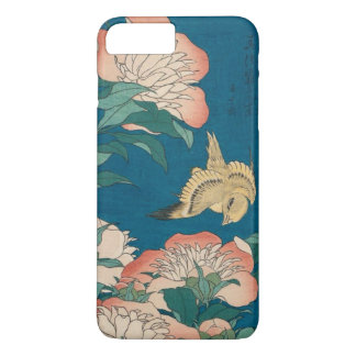 Pivoines de Hokusai et GalleryHD vintage jaune Coque iPhone 7 Plus