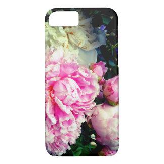 Pivoines roses et blanches coque iPhone 7