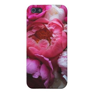 Pivoines roses et blanches en fleur - couverture d étuis iPhone 5