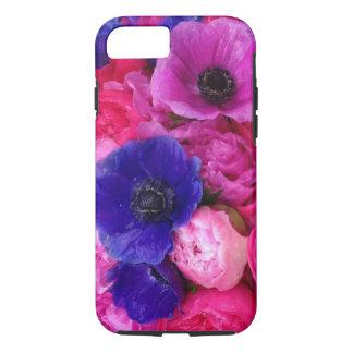 Pivoines roses et pourpres et cas floral de coque iPhone 7