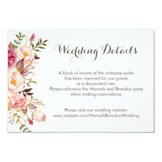 Pivoines roses florales de Boho épousant la carte