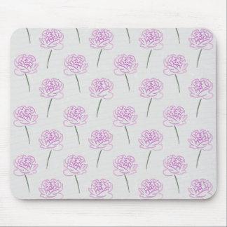 pivoines roses tapis de souris