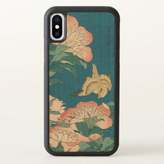 Pivoines vintages et art jaune canari de Hokusai