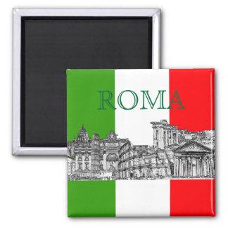 PixDezines cadeaux de souvenir de voyage de Roma, Magnet Carré