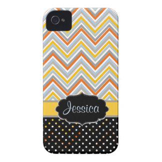 PixDezines Chevron JO, couleur d'arrière - plan de Coques Case-Mate iPhone 4