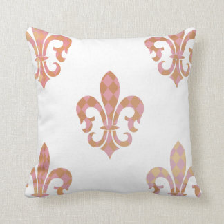 PixDezines fleur de lis/rose/or/DIYbackground Coussin Décoratif