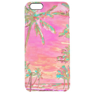PixDezines Hawaï/cru/plage/rose/Teal Coque iPhone 6 Plus