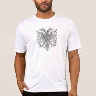 Pixel albanais de gris d'aigle t-shirts