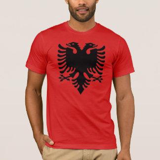 Pixel de gris d'Eagle d'Albanais T-shirt