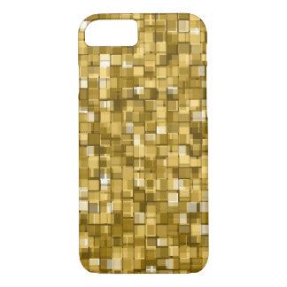 Pixels d'or coque iPhone 7