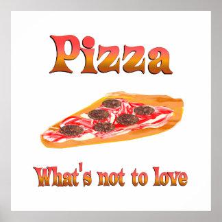 Pizza à aimer posters