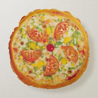 Pizza aux légumes coussins ronds