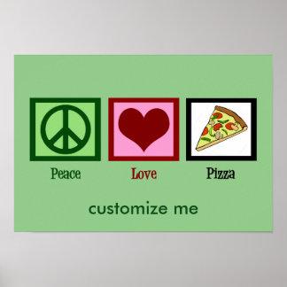 Pizza d'amour de paix poster