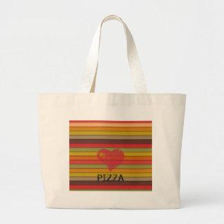 Pizza d'amour - la pizza est amour, pizza est la sac en toile jumbo