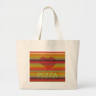 Pizza d'amour - la pizza est amour, pizza est la sac en toile
