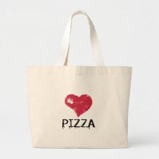 Pizza d'amour - la pizza est amour, pizza est la sacs en toile