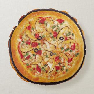 Pizza de champignon coussins ronds
