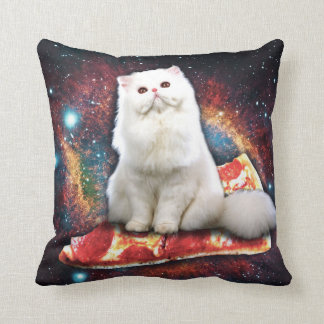 Pizza de chat de l'espace oreillers