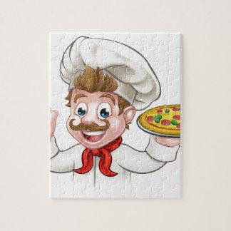 Pizza de chef de bande dessinée puzzle