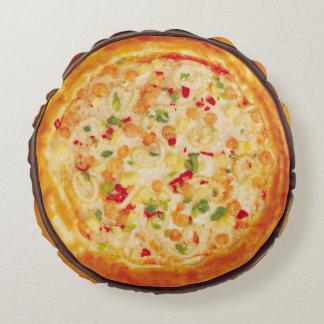 Pizza de crevette coussins ronds