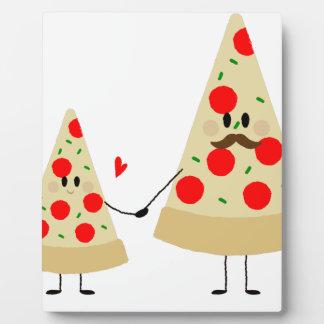pizza de fête des pères plaque photo