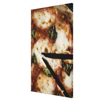 pizza de fromage bois-mise le feu toiles