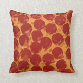 Pizza de pepperoni coussins carrés
