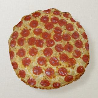 Pizza de pepperoni coussins ronds
