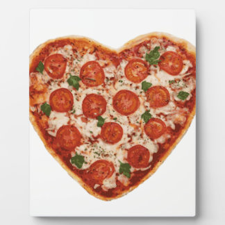 pizza en forme de coeur plaque d'affichage