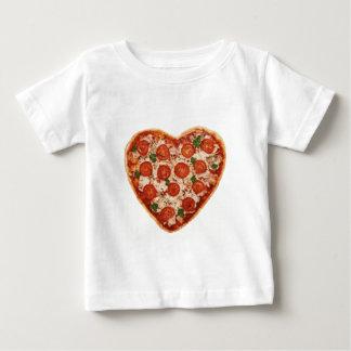 pizza en forme de coeur t-shirt pour bébé