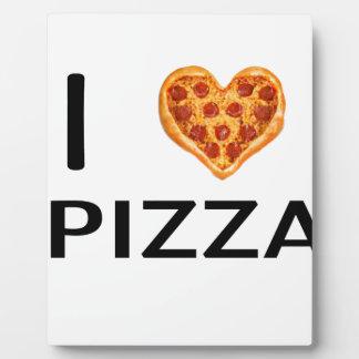 Pizza et amour plaques d'affichage