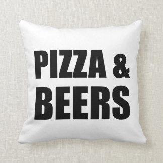 Pizza et bières oreillers
