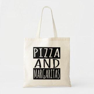 Pizza et margaritas sac de toile