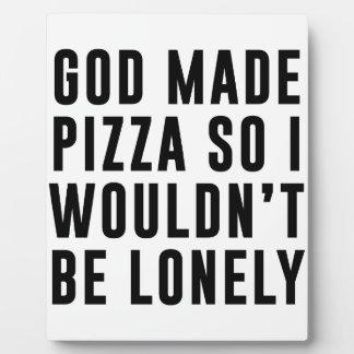 Pizza isolée plaque d'affichage