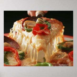 Pizza mélangée affiches