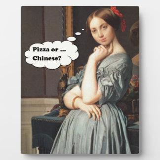 Pizza ou Chinois ? Plaque Photo