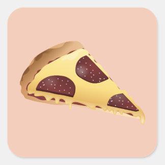 Pizza pour les gens sticker carré