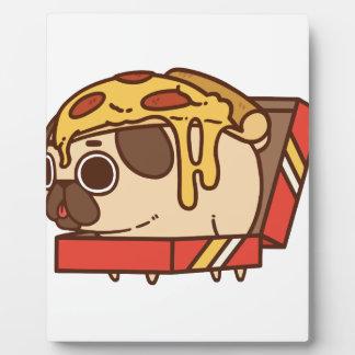 Pizza Pug-01 Plaque Photo